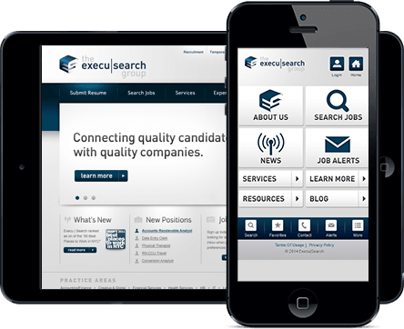 Execusearch Responsive Design